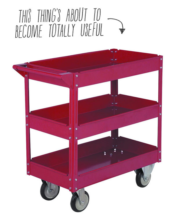 Harbor Freight Utility Cart >> How To Modify An Inexpensive Tool Cart To Organize All Your Hand