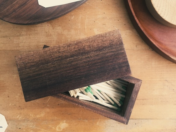 Wooden box with matches
