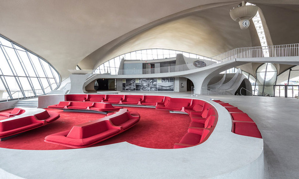 Walk through jfk s space age designed twa terminal before for Jfk airport hotel inside terminal