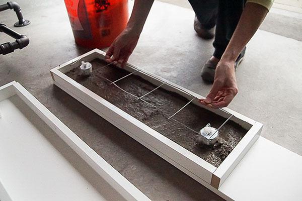 building a concrete shelving
