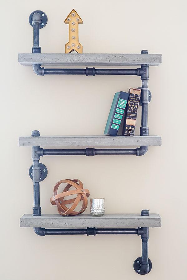 Industrial concrete shelf
