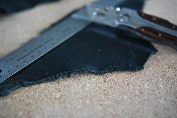 Leather Straightedge