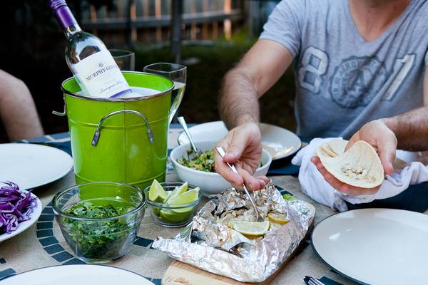 Serving up Fish Tacos