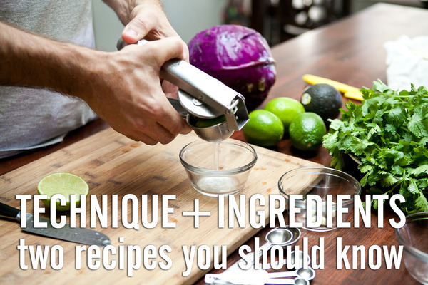 Two recipes that highlight quality ingredients and essential techniques.