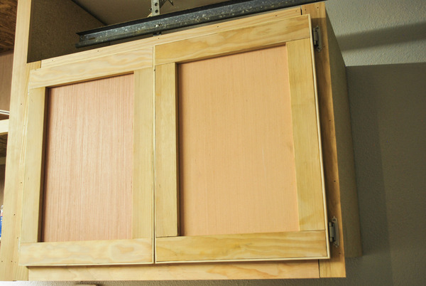 Finished Doors & How to: Build Shop Cabinet Doors on the Cheap | Man Made DIY ...