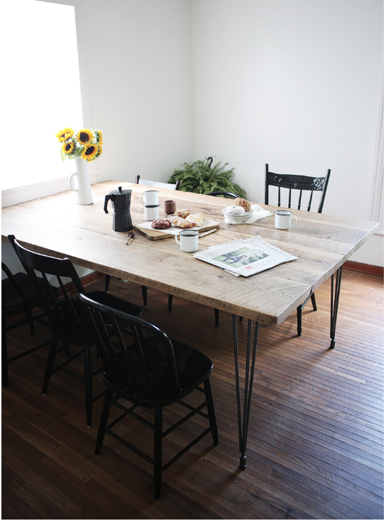 How To DIY Dining Table For A Crowd From Reclaimed Wood Man Made DIY Cra