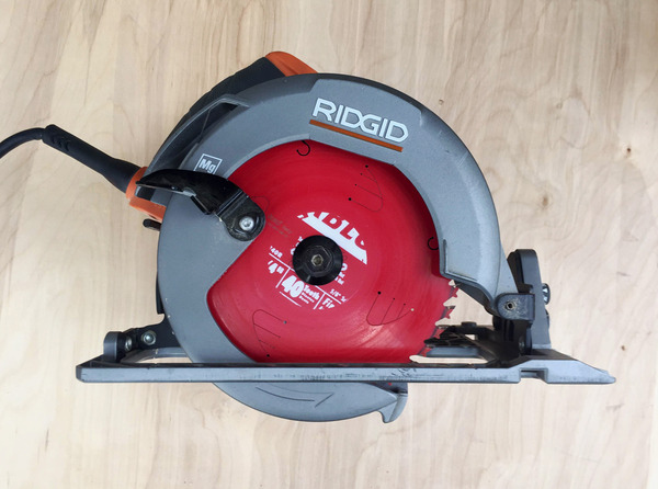 We recommend Ridgid's entry level circular saw