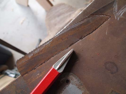 Laying out a Sawblade