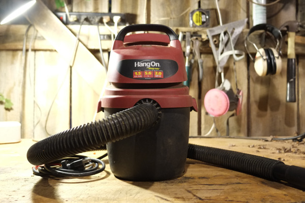 shop vac on table