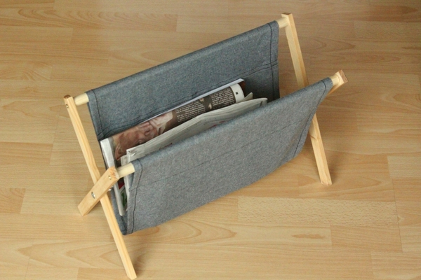 How To Make A Simple Rustic Folding Magazine Rack From Wood And Cool Foldable Magazine Holder