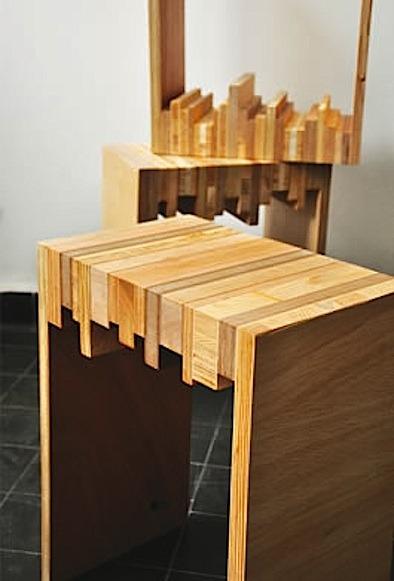scrap wood side tabls