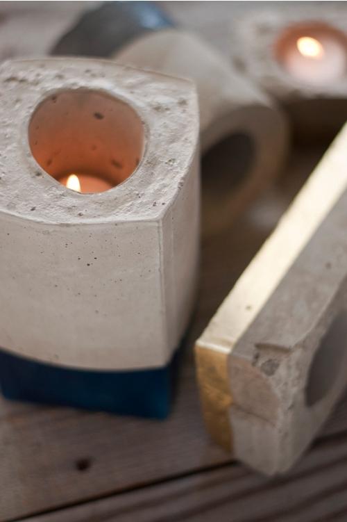 Concrete Candleholders