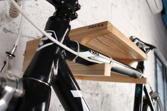 Wooden Bike Rack