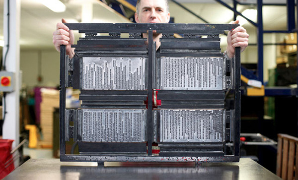 Holding a Printing Plate Rack
