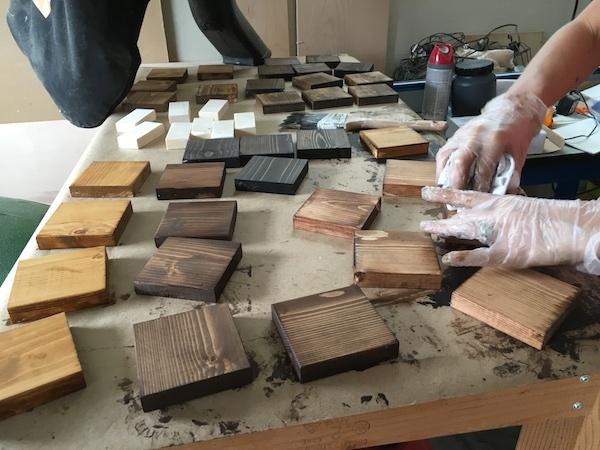 Make this wood block wall calendar man made diy