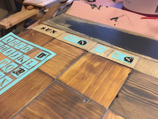 Calendar Blocks Diy : Make this wood block wall calendar man made diy
