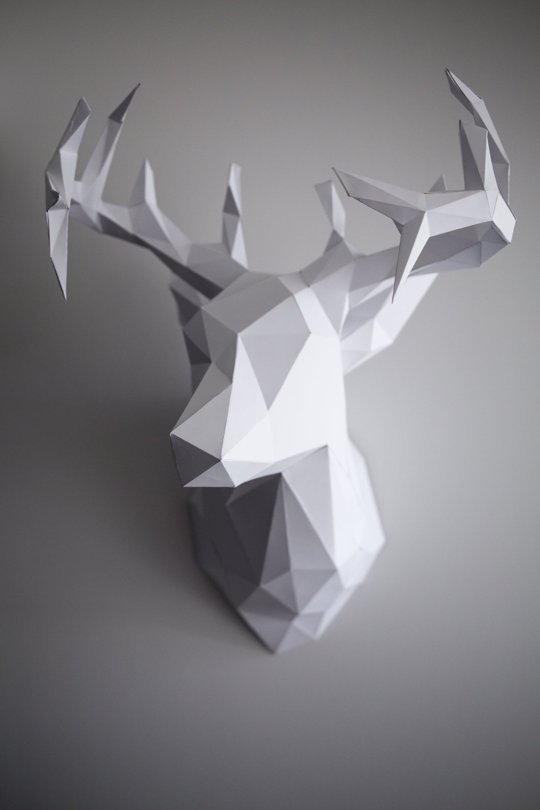 How to: Make a 3D Paper Reindeer Head | Man Made DIY | Crafts for ...