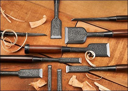 Damascus Steel Hallow Back Chisels