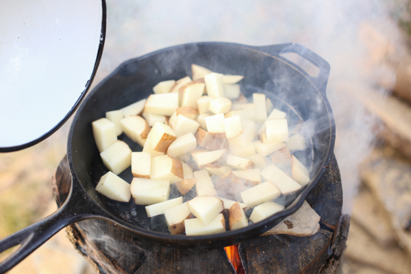 fireside sea salt and vinegar potatoes