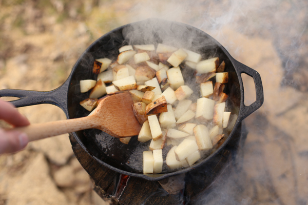 fireside sea salt and vinegar potatoes