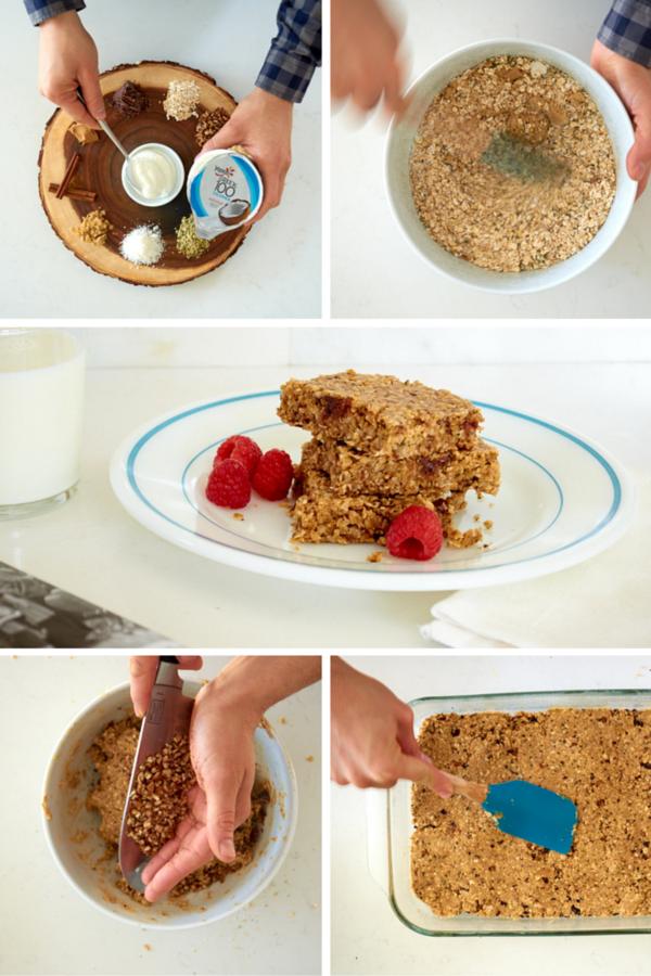 Protein packed yogurt oatmeal bars