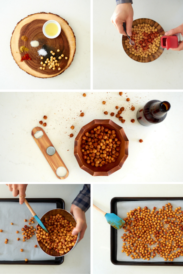 Crispy BBQ chickpea snack recipe