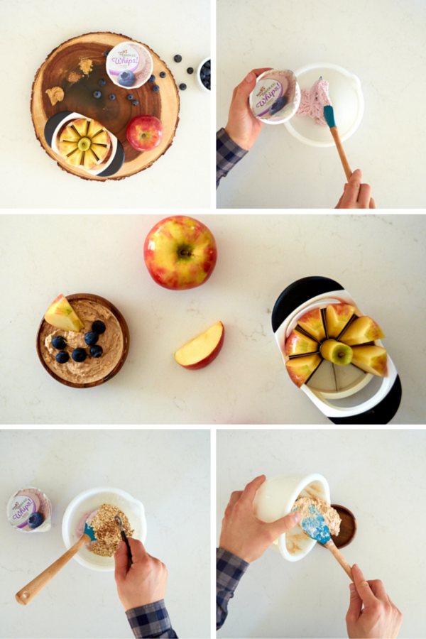 Yogurt apple dipping sauce