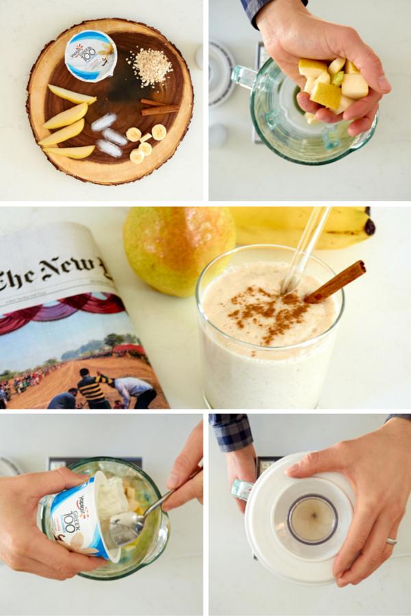 Peach banana yogurt smoothie recipe