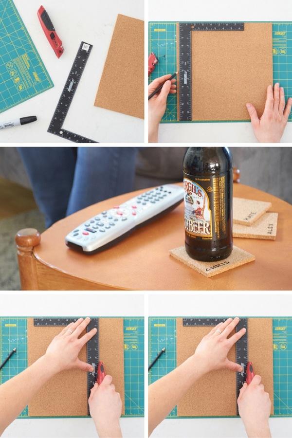 DIY cork coasters - step by step