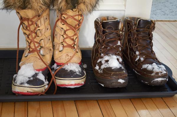 Stop snowy feet at the door