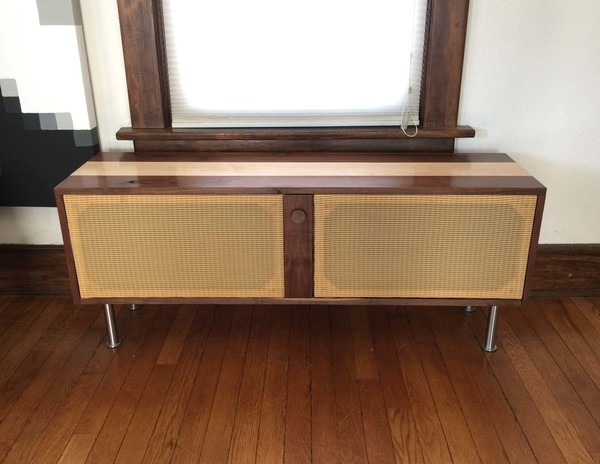 ... Barry Abrams Hacked Together Some Existing Speakers And Some Milled  Hardwood Planks Into An Original Stereo Cabinet, Customized For His Own  Space.