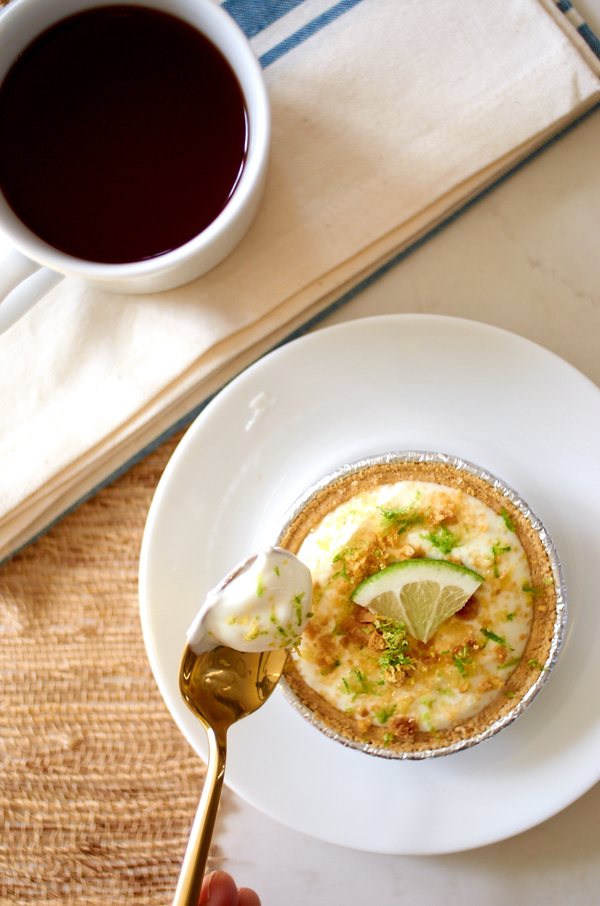 Key lime pie with Yoplait Greek 100