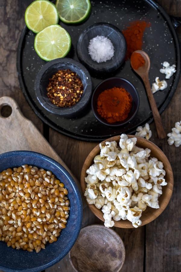 Chili-Lime Popcorn ingredients