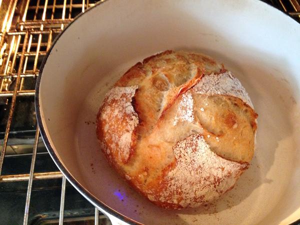 sourdough bread is done