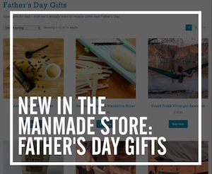 Shop the ManMadeDIY store for father's day gifts