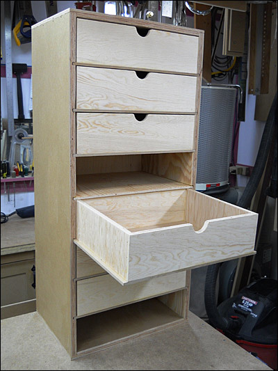 Building Plywood Drawers ~ How to build a custom rolling tool cabinet man made diy
