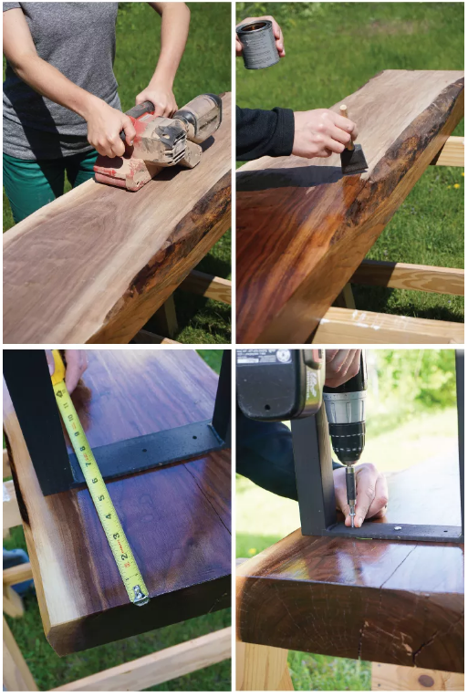 How To: Make A Live Edge Walnut Bench