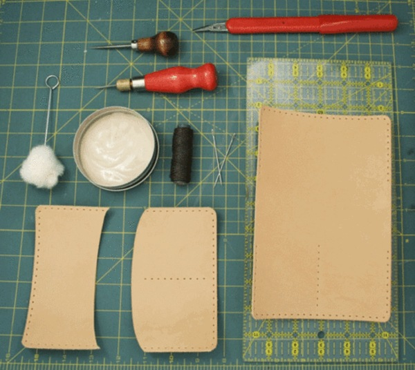 Leather wallet making kit