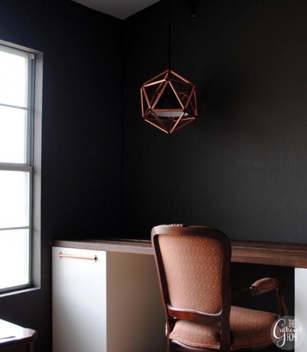 Copper Geo Lamp