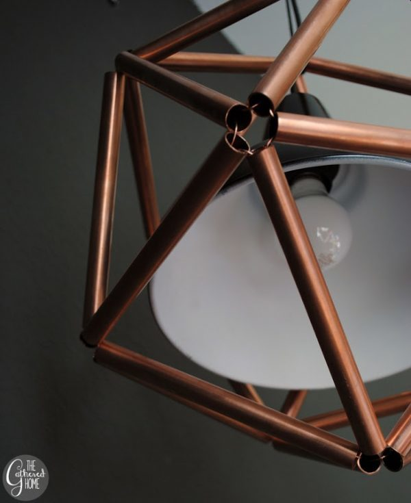 Finished Copper Lamp