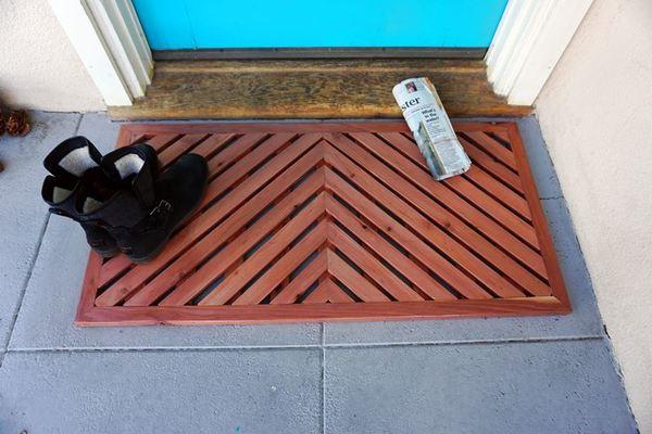Wooden Chevron Mat