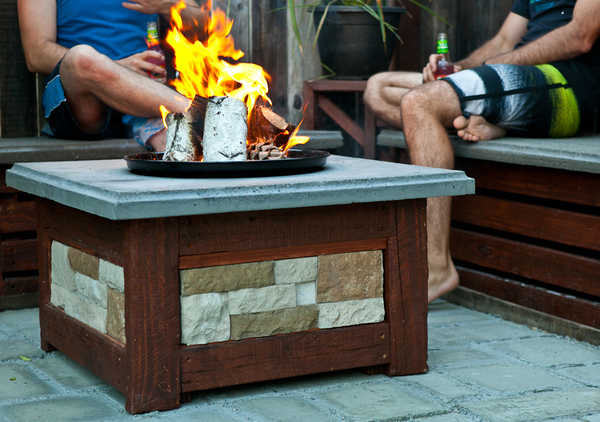 diy durable concrete fire pit