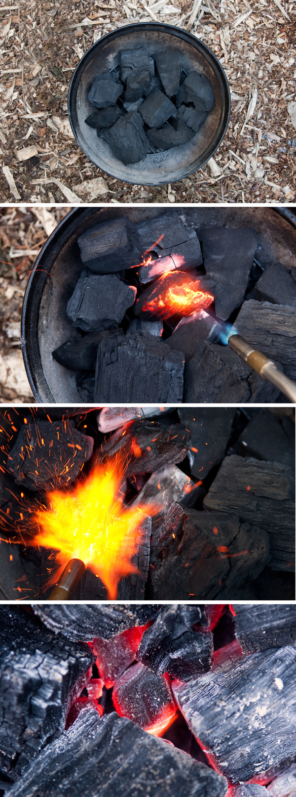 How to Light a Charcoal Grill with a Blowtorch (My ...