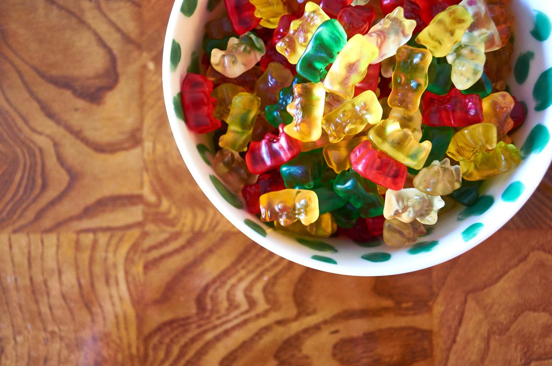 Gummy bears keep things festive and fun
