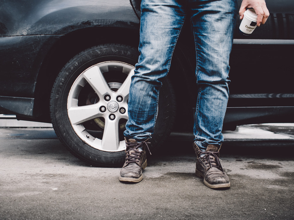 Car jeans shoes traveloriginal