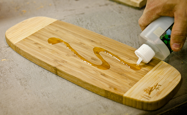 Mineral oil cutting board
