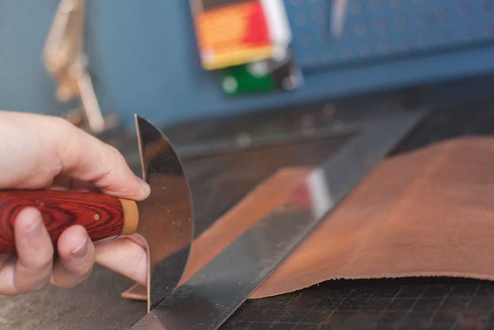 Cutting Leather Step 2