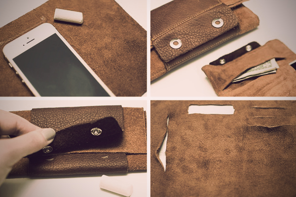 Leather roll wallet diyoriginal