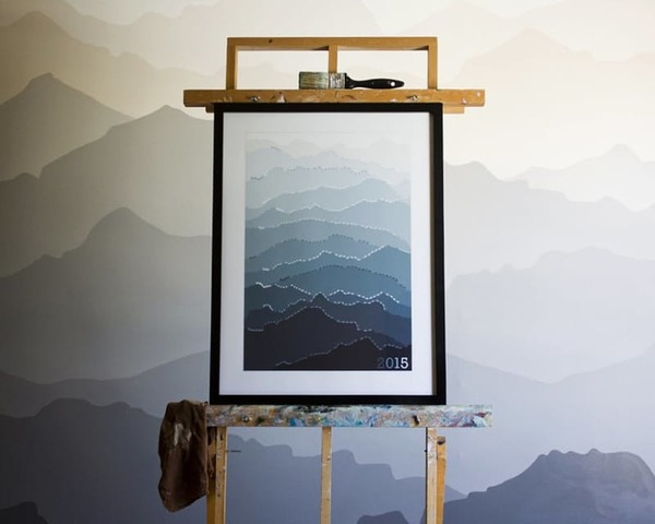 DIY Idea: Large Scale Outdoor-Inspired Wall Art | Man Made DIY ...