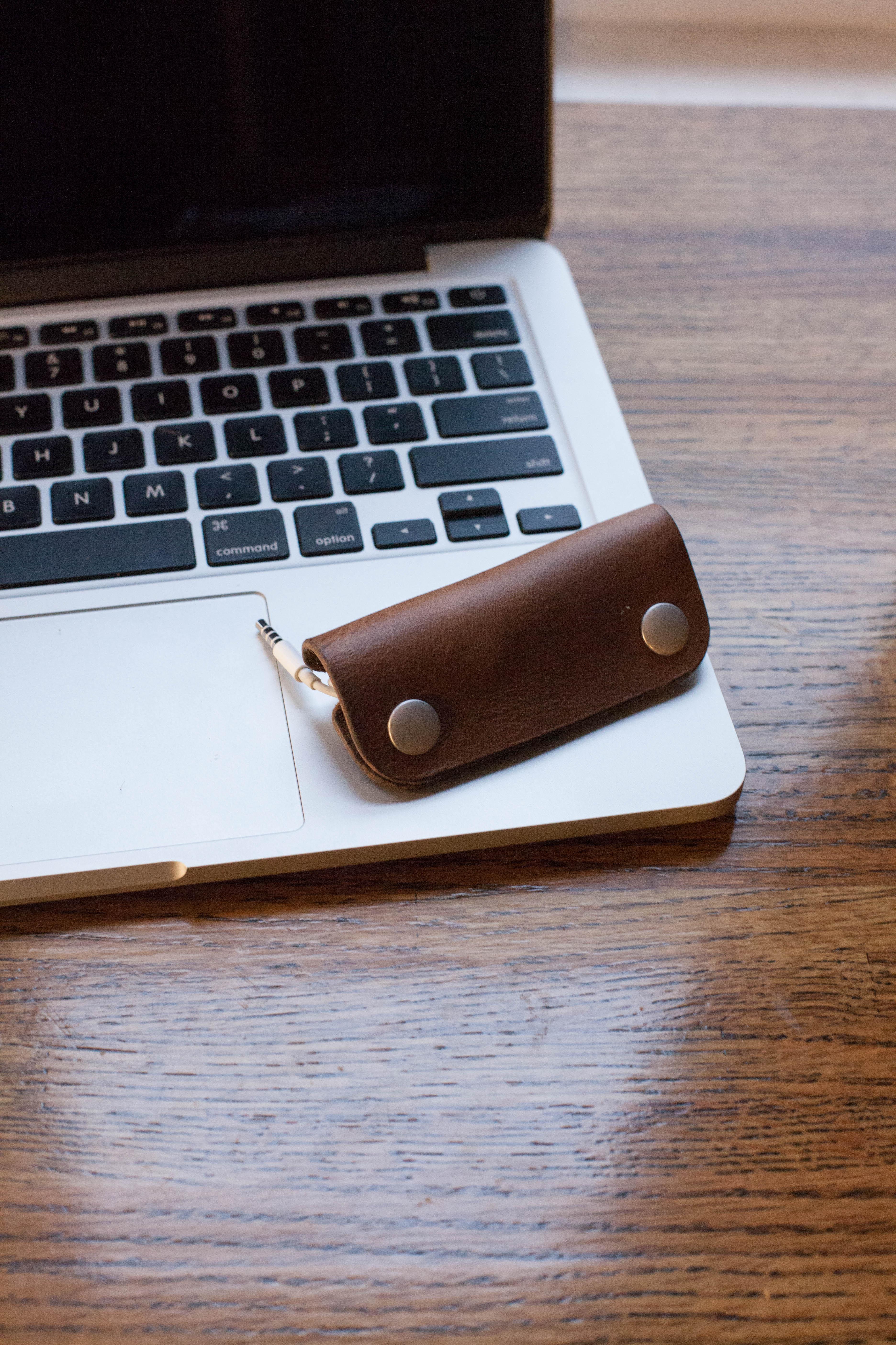 DIY Leather Earbud Organizer